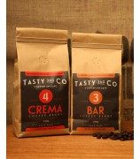 Bar (3) 中度烘焙咖啡豆 + Crema (4) 中深度烘焙咖啡豆