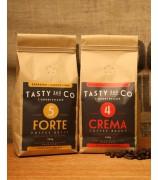 Crema (4) 中深度烘焙咖啡豆 + Forte (5) 深度烘焙咖啡豆