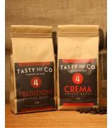 Crema (4) + Tradizione (4) 中深度烘焙咖啡豆